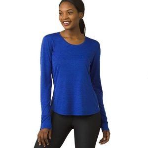 prAna Women's Cobalt Revere Long Sleeve Tee Size M